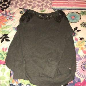 Tops - green lace long sleeve shirt